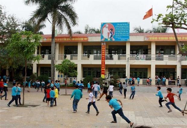 [Thái Bình] Học sinh Trường Tiểu học Vũ Thư lại đến lớp bình thường